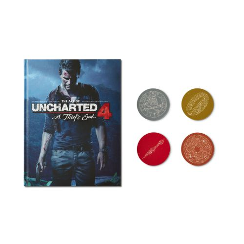 Uncharted Coaster and Art Book Bundle