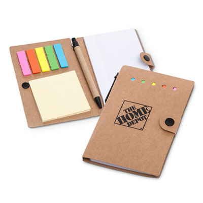 Notebook with Desk Essentials