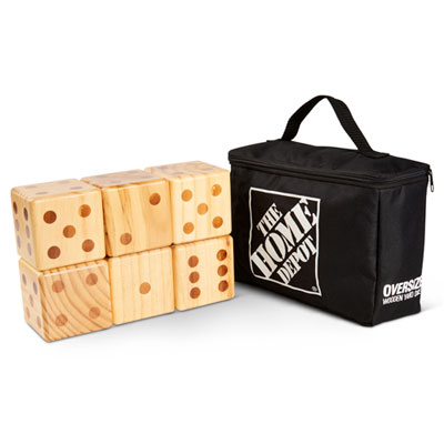 Oversized Wooden Yard Dice