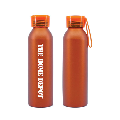 Aluminum Water Bottle with Silicone Strap
