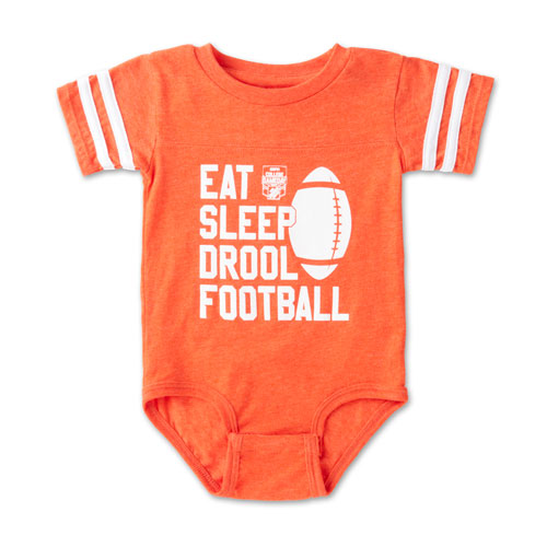"Infant ""Eat, Sleep, Drool"" Football Bodysuit"