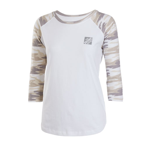 Ladies' Camo Baseball T-shirt