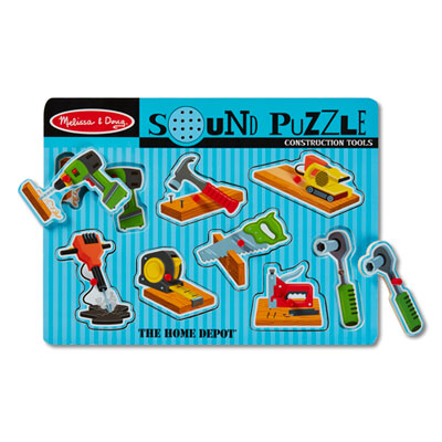 Melissa and Doug® Construction Tools Sound Puzzle