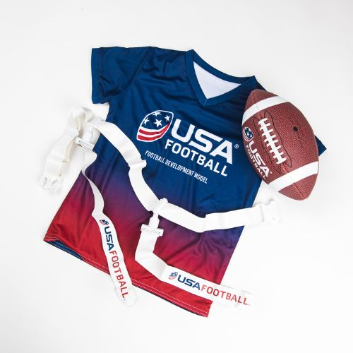 Flag Football Kit (includes 5 jerseys, 5 belts and a football)
