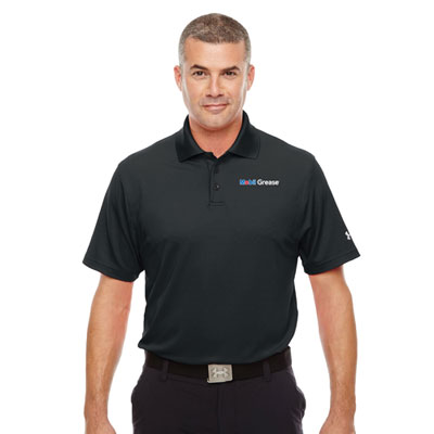 Men's Mobil Grease™ Under Armour® black polo