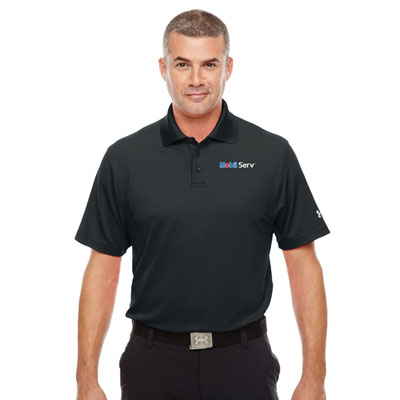 Men's Mobil Serv™ Under Armour® black polo