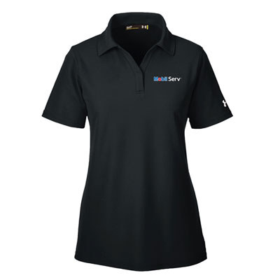 Ladies' Mobil Serv™ Under Armour® black polo