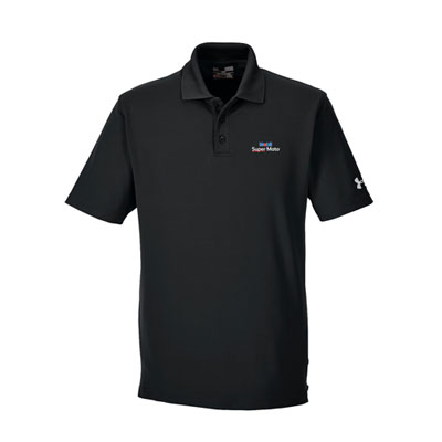 Men's Mobil Super Moto™ Under Armour® black polo