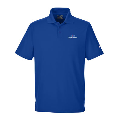 Men's Mobil Super Moto™ Under Armour® royal blue polo