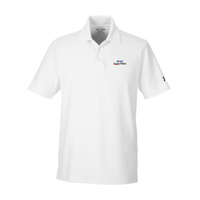 Men's Mobil Super Moto™ Under Armour® white polo