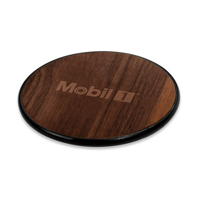 NoWire™ wooden Qi charging coaster