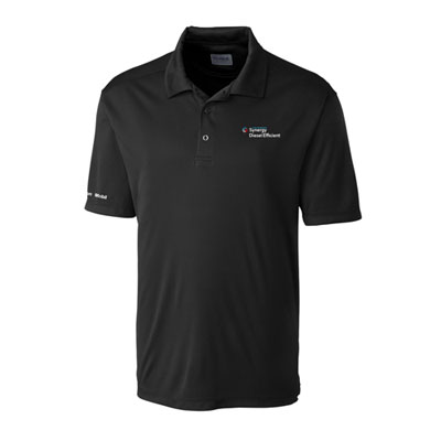 Men's Synergy Diesel Efficient™ black Parma polo