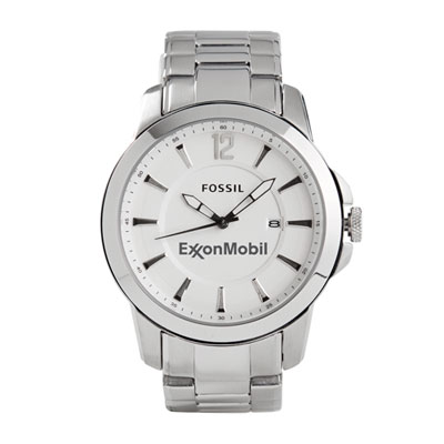 ExxxonMobil™ Fossil metal dress watch