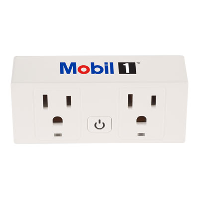 Mobil 1™ Double-outlet Wi-Fi smart plug