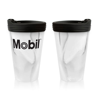 Mobil™ Silipint pint glass with lid