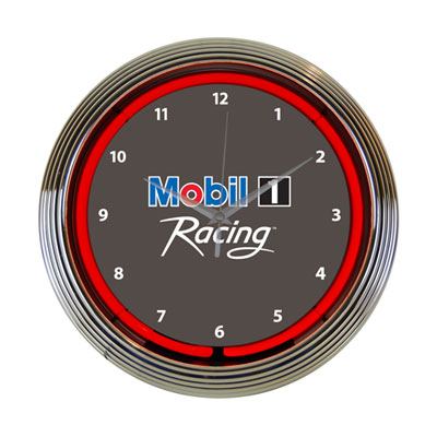 Mobil 1 Racing™ Neon shop clock