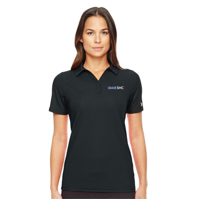 Ladies' Mobil SHC™ Under Armour® black polo