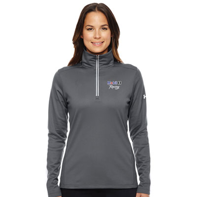 Ladies' Under Armour® graphite 1/4 zip