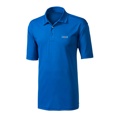 Men's Mobil™ pique blue polo