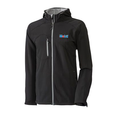 Men's Mobil™ hooded black jacket