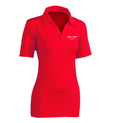 Ladies' Synergy™ red polo