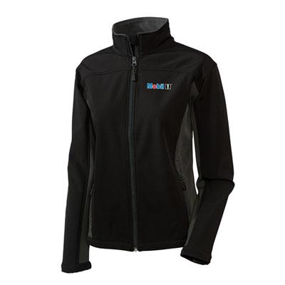 Ladies' Mobil 1™ soft shell black jacket