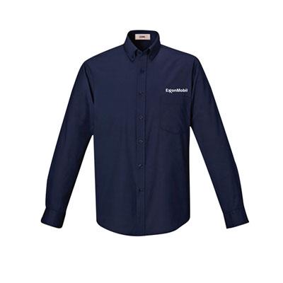 Men's ExxonMobil UV navy dress shirt
