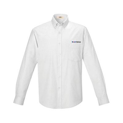 Men's Mobil Delvac™ UV white dress shirt