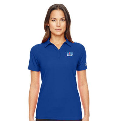 Ladies' Mobil Super™ Under Armour® royal blue polo