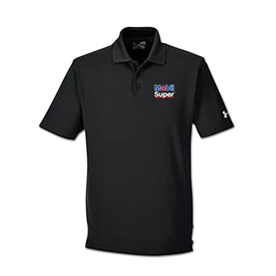 Men's Mobil Super™ Under Armour® black polo