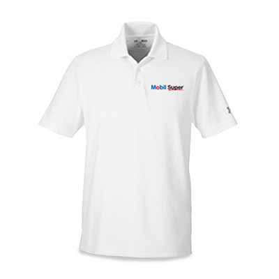 Men's Mobil Super™ Under Armour® white polo