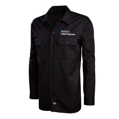 Mobil 1 Lube Express™ Dickies® black work shirt