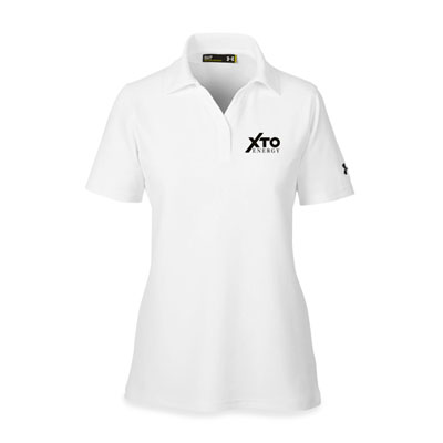 Ladies' XTO Energy™ Under Armour® white polo