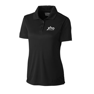 Ladies XTO Energy™ black Parma polo