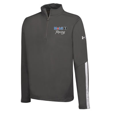 Men's Mobil 1 Racing™ Under Armour® graphite 1/4 zip