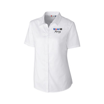 Ladies' stain-resistant twill blouse