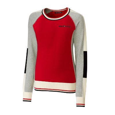 Ladies' collegiate color-block sweater