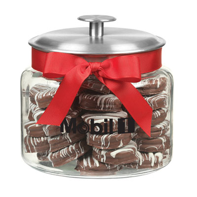 Mobil 1™ Cookie jar with chocolate-covered Oreos®