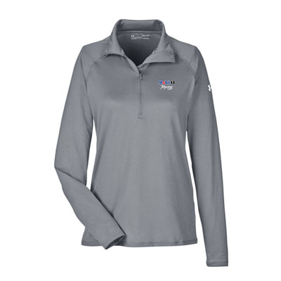 Mobil 1 Racing™ Ladies Under Armour® tech graphite 1/4 zip