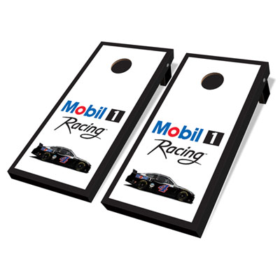 Mobil 1 Racing™ wooden cornhole game