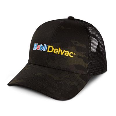 Mobil Delvac™ black camo cap