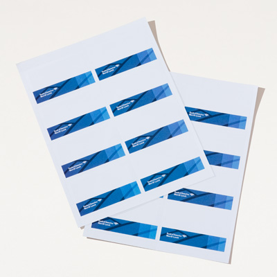 Bank of America Merrill Lynch Printable Name Tags - 80 Pack