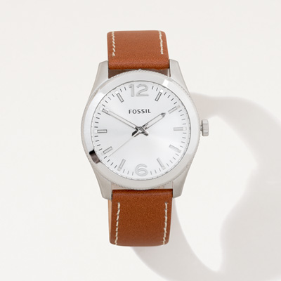 Flagscape Fossil® Ladies' Leather Watch