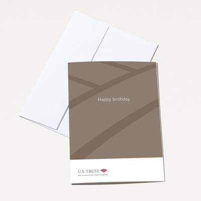 U.S. Trust Birthday Card - 25 Pack