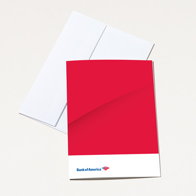 Bank of America Blank Note Card - 25 Pack