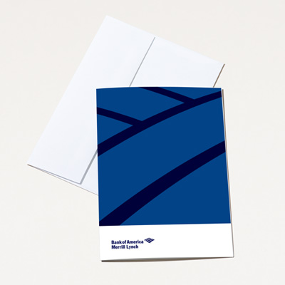 Bank of America Merrill Lynch Blank Note Card - 25 Pack