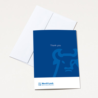 Merrill Lynch Thank You Card - 25 Pack