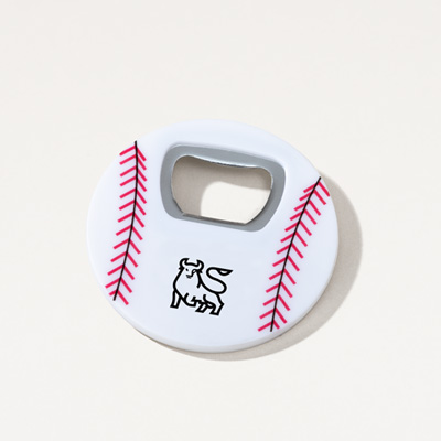 Bull Baseball Magnetic Bottle Opener