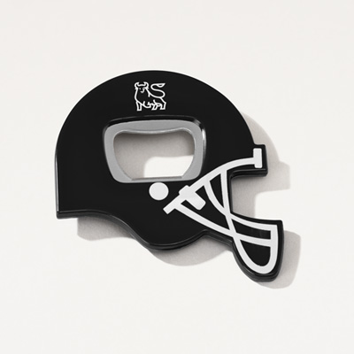 Bull Football Helmet Bottle Opener