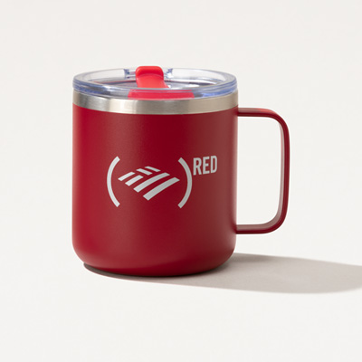 (RED) Camper Travel Mug